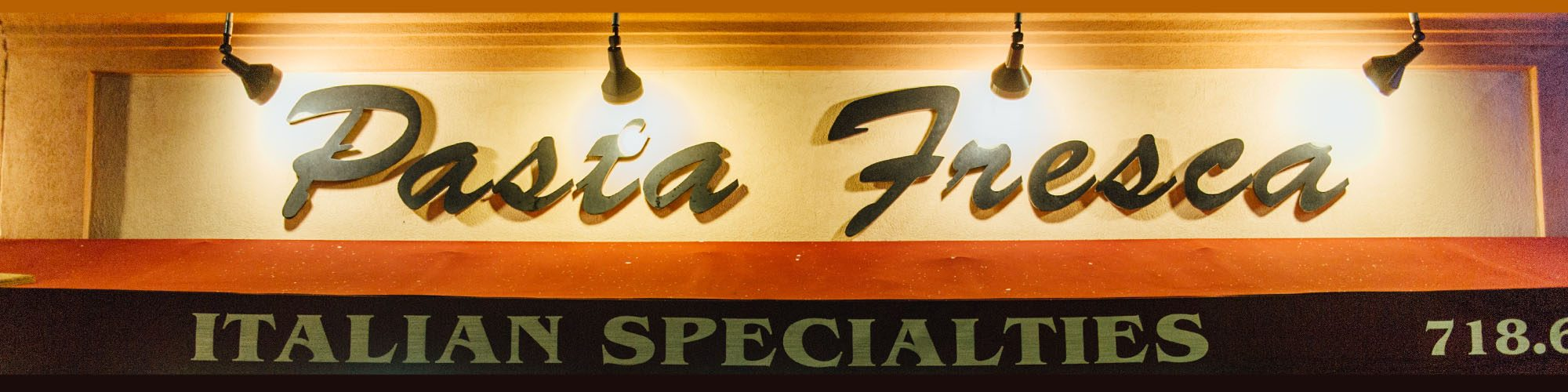 The front sign of Pasta Fresca